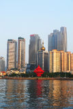 Seaside Chinese city, Qingdao. Where Tsingtao beer was made royalty free stock photos