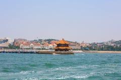 Seaside Chinese city, Qingdao, where Tsingtao beer was made Royalty Free Stock Image
