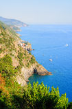 Seaside Cinque Terre scenery Royalty Free Stock Photos