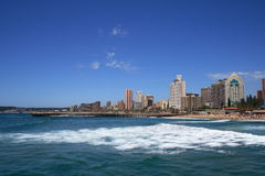 Seaside city. Durban city skyline view, south africa Stock Photography