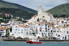 Seaside city Cadaques, Catalonia, Spain Stock Photos