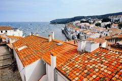 Seaside city Cadaques, Catalonia, Spain Royalty Free Stock Photography