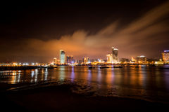 xiamen city skyline at night Royalty Free Stock Image