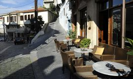 Seaside city of Kavala in Greece stock image