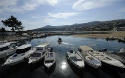 Seaside city of Kavala in Greece royalty free stock images