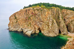 The seaside cliff landscape dalian Royalty Free Stock Image