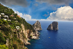 Seaside cliff in Sorrento, Amalfi Coast - Italy. Seaside cliff in Sorrento, Amalfi Coast royalty free stock image