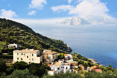 Seaside cliff in Sorrento, Amalfi Coast - Italy. Seaside cliff in Sorrento, Amalfi Coast royalty free stock photo