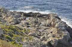 A seaside cliff Stock Image