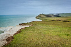 Seaside cliffs. Beautiful landscape in the summer Stock Photo
