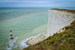 Seaside cliffs. Beautiful landscape in the summer Stock Images