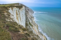 Seaside cliffs. Beautiful landscape in the summer. Royalty Free Stock Image