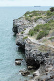 Seaside cliffs. Landscape in Thailand stock photography
