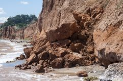 Seaside coastal erosion Royalty Free Stock Image