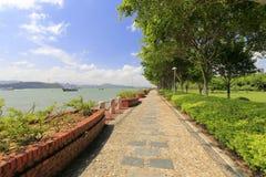 Seaside cobblestone trail of gulangyu island Stock Photo