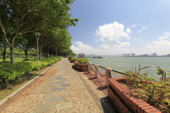 The seaside cobblestone trail of gulangyu islet Royalty Free Stock Photo