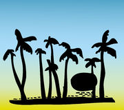 Seaside Coconut Tree Royalty Free Stock Images