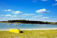 Seaside in Concarneau (Britanny) Stock Images