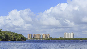 Seaside Condos in Florida. A row of high rise ocean front condo buildings in Florida Royalty Free Stock Photos