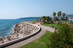 Seaside, Cote d'Azur Stock Photo