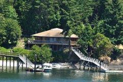 Seaside cottage royalty free stock photo