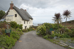 Seaside cottage in Cornwall UK Stock Image