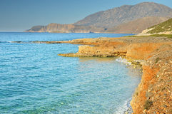 Seaside of Creta island royalty free stock photos