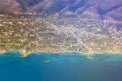 Seaside of Crete island, aerial view, Greece Stock Photo