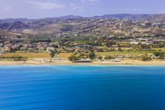 Seaside of Crete island, aerial view, Greece Stock Photography