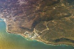 Seaside of Crete island, aerial view, Greece Royalty Free Stock Photo