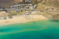 Seaside of Crete island, aerial view, Greece Stock Images
