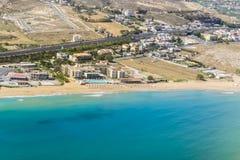 Seaside of Crete island, aerial view, Greece Stock Image