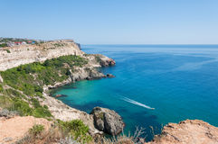 Seaside in the Crimea. Foros Cape Royalty Free Stock Photos