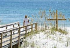 Seaside Cross Royalty Free Stock Photos