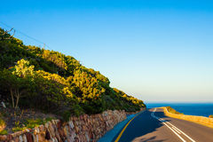 Seaside Curving Road. Curving road near the sea, Cape Town, South Africa stock photos