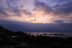 Seaside dawn silhouette Royalty Free Stock Photos