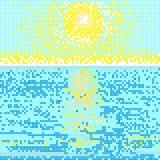 Seaside day light mosaic Stock Images