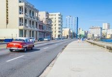 Seaside drive Malecon in Havana Stock Image