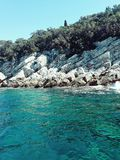 Seaside in Dubrovnik royalty free stock photography
