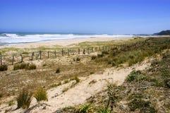 Seaside. Extensive beach on the island Mocha, region of Bio Bio, Chile Royalty Free Stock Image