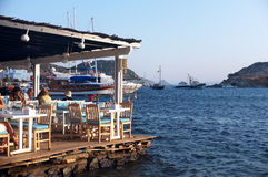 Seaside fish restaurant in Turkey Royalty Free Stock Photos