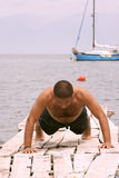 Seaside fitness Stock Photo