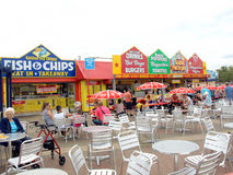 Seaside food and drink, Skegness. Stock Image