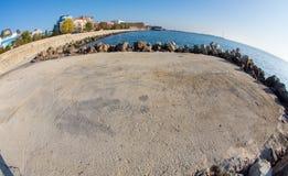 Seaside foothold in Pomorie, Bulgaria Royalty Free Stock Image