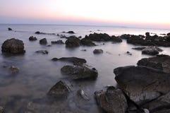 Seaside Full Of Sharp Rocks Stock Photos