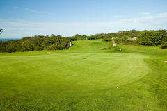 Seaside golf course Stock Images
