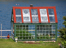 Seaside Greenhouse Stock Photo