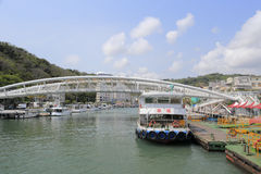 Seaside of gushan ferry pier Stock Images