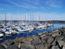 Seaside harbor Royalty Free Stock Images