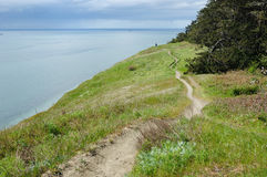 Seaside hiking trail Royalty Free Stock Image